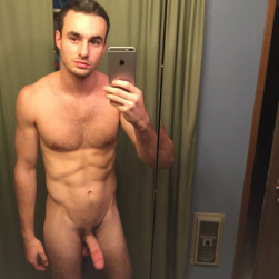 Nude Man With A Hard Cut Cock Taking Selfies