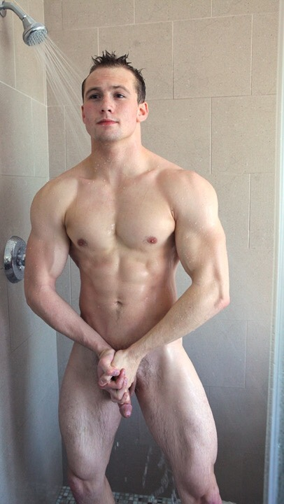 Cute Muscle Boy With A Hard Cut Cock - Nude Amateur Guys