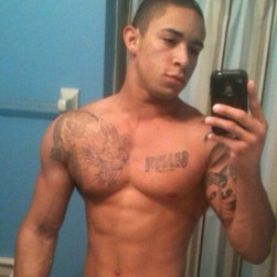 Sexy Muscle Guy With A Big Hard Uncut Cock