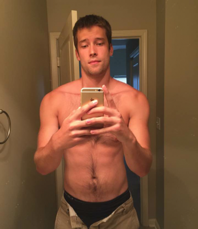 Good Looking Man Taking Nude Selfies