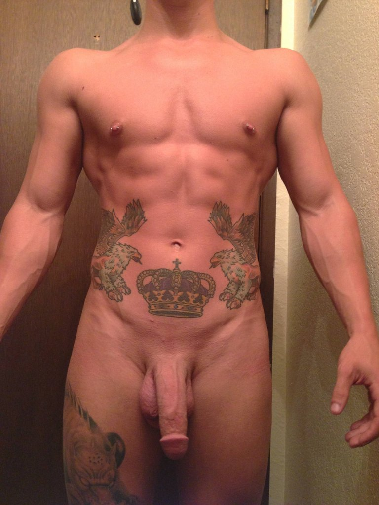 Nude Tattooed Boy With A Big Cut Cock - Nude Amateur Guys