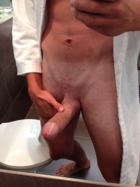 Stroking my boyfriends sexy little cock 8