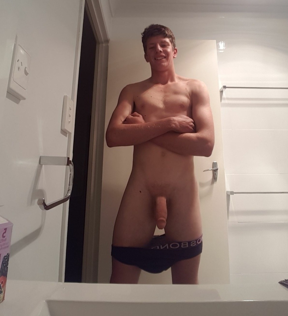 Shaved guys showing off cocks