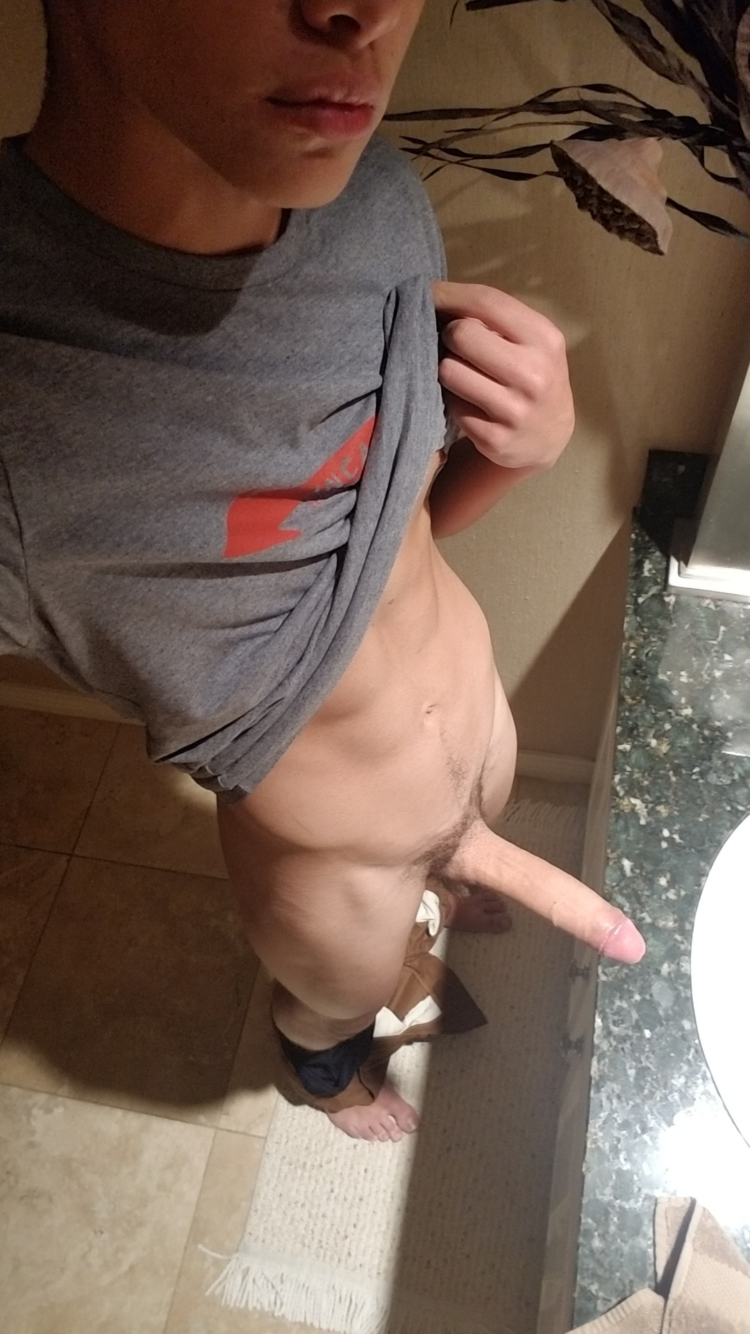 Boy with a big penis