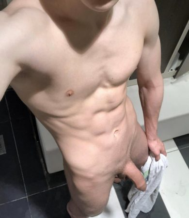 Nude twink with soft cock